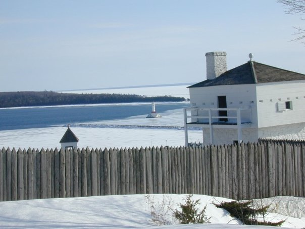 Fort Mackinac in Winter