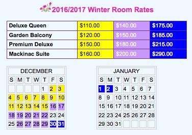 Cottage Inn Winter Rates